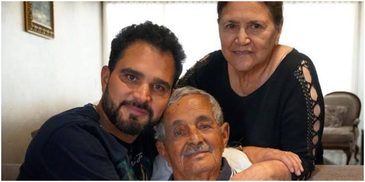 Luciano Camargo enfrentou a morte do pai, Seu Francisco (Foto: Reprodução)