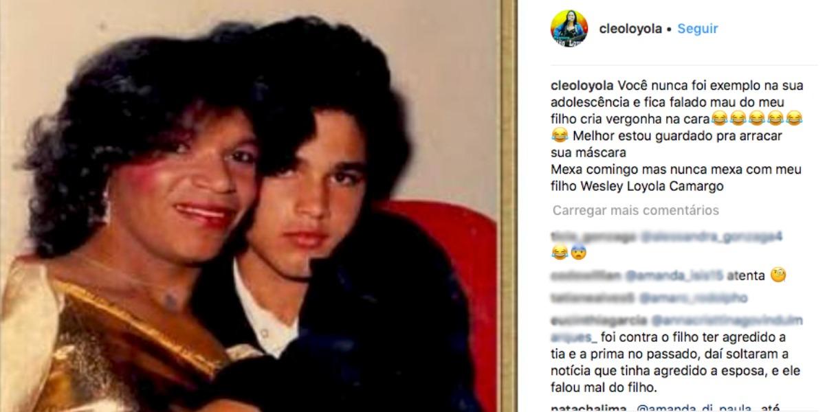 Cleo Loyola compartilhou imagens do passado de Luciano (Foto: Reprodução/Instagram)