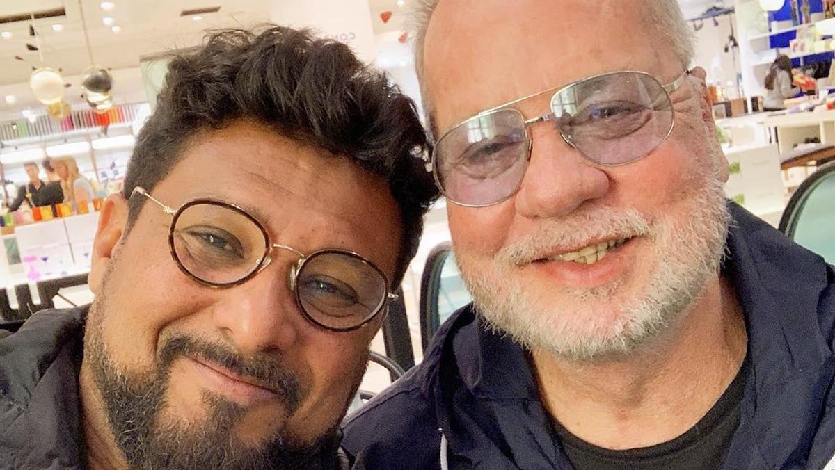 Luiz Fernando Guimarães e Adriano Medeiros (Foto: Reprodução)