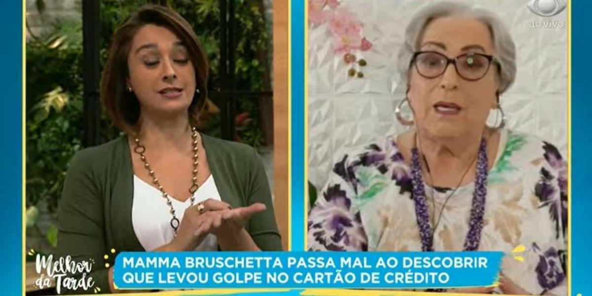 Catia Fonseca e Mamma Bruschetta (Reprodução: Band)