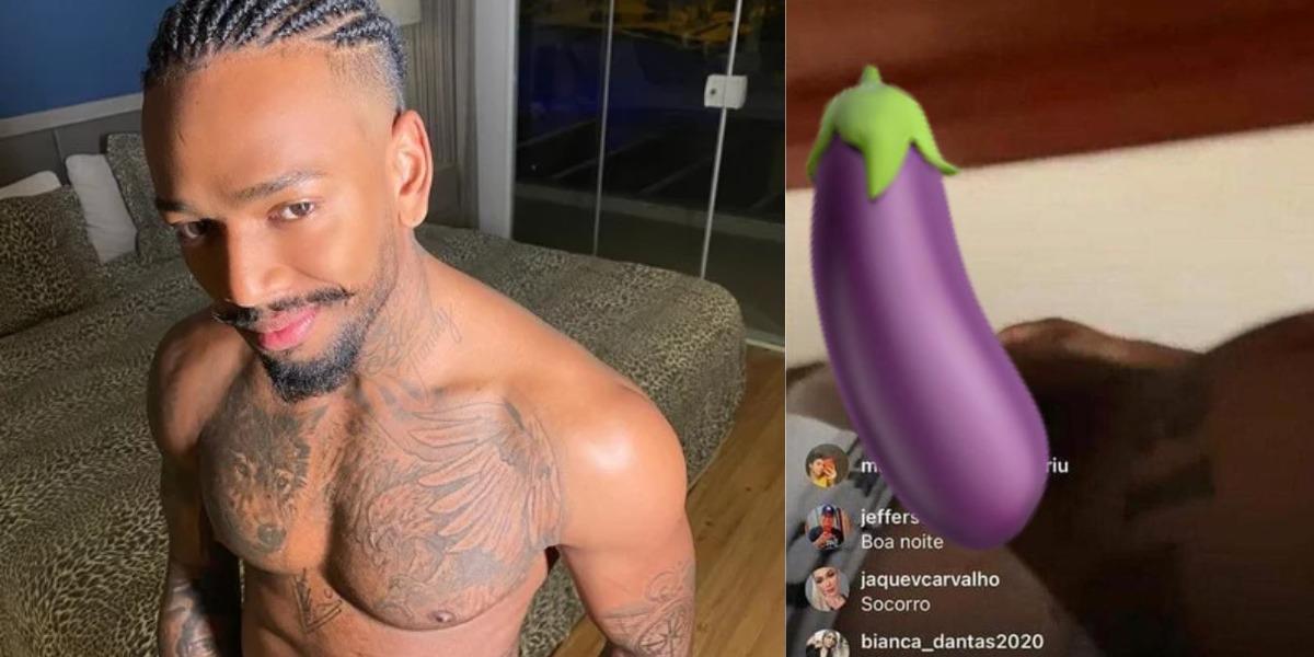 Nego do Borel ficou nu em live (Foto: Reprodução/Instagram)