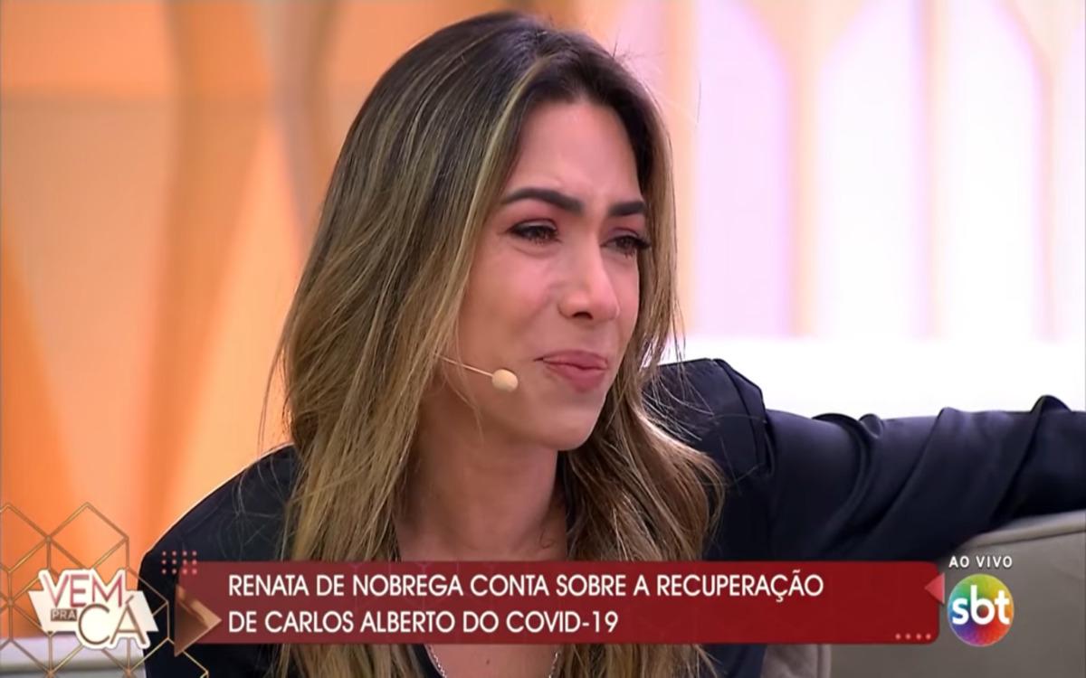 Patricia Abravanel caiu no choro ao vivo no SBT durante o Vem Pra Cá (Foto: Divulgação)