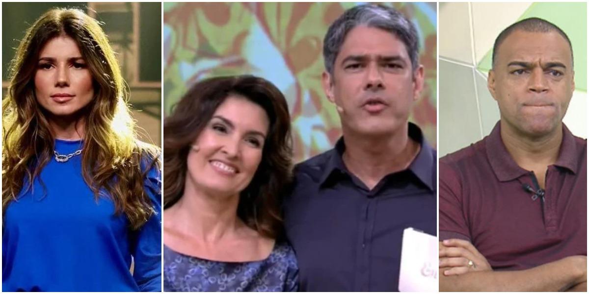 Paula Fernandes, Fátima Bernardes, William Bonner e Denílson são destaques no TV Foco (Foto: Reprodução)