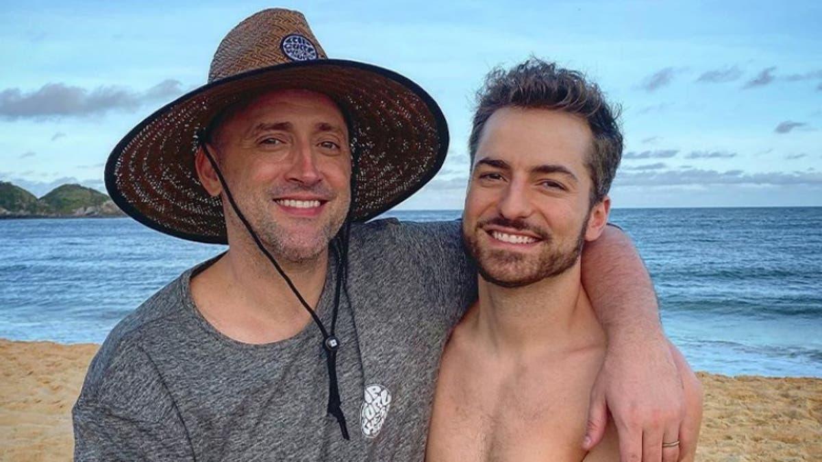 O ator Paulo Gustavo e seu marido, Thales Bretas (Foto: Divulgação)