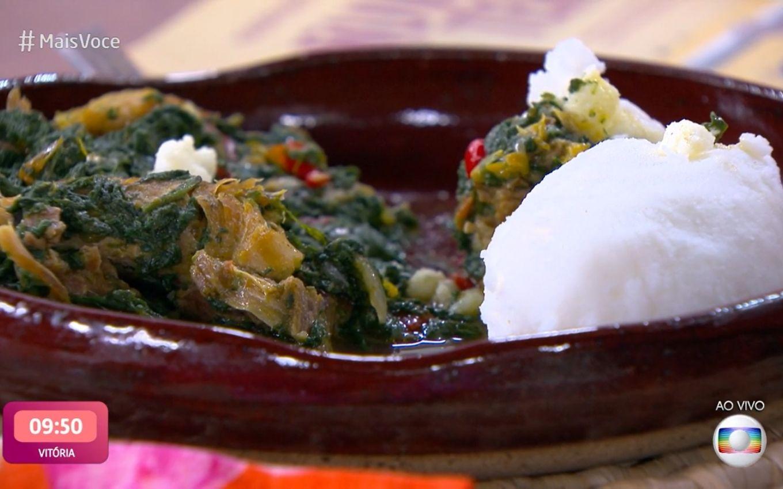 Prato queniano servido no Mais Você (Foto: Reprodução/ TV Globo)