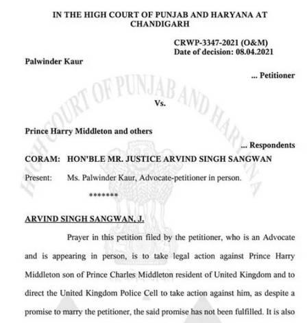 Processo feito contra o príncipe Harry (Foto: Reprodução)