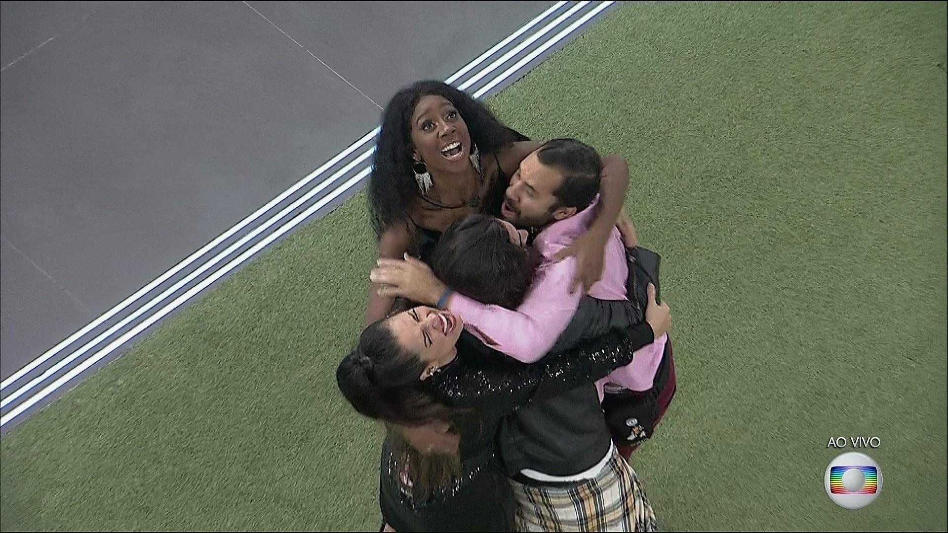 Os quatro finalistas do reality show da TV Globo, o Big Brother Brasil 21 (Foto: Reprodução)
