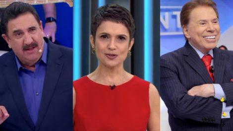 A semana dos famosos contou com Ratinho brigando com Rachel Sheherazade, Sandra Annenberg traída e Silvio Santos pegando estrela da Globo (Foto: Reprodução)