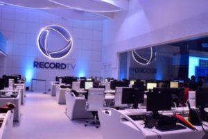 Estúdio da Record (Foto: Reprodução)