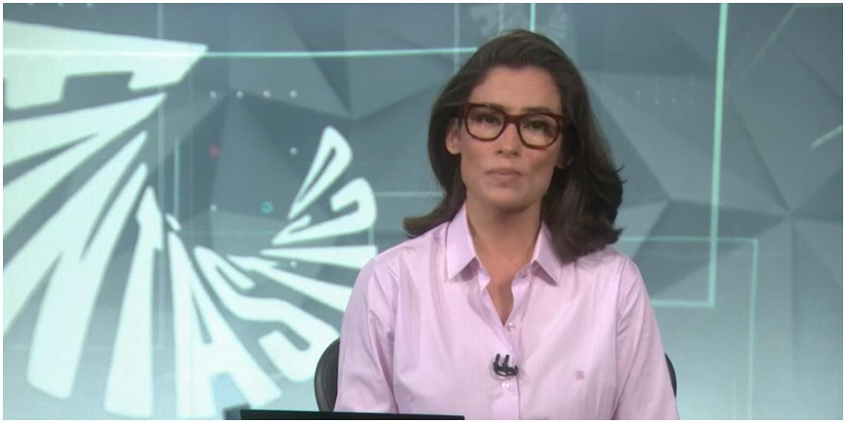 Renata Vasconcellos comanda o Jornal Nacional na Globo - Foto: Reprodução