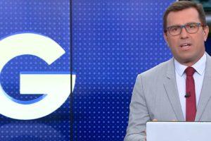 Rodrigo Bocardi encerrou o Jornal da Globo com homenagem (Foto: Reprodução)