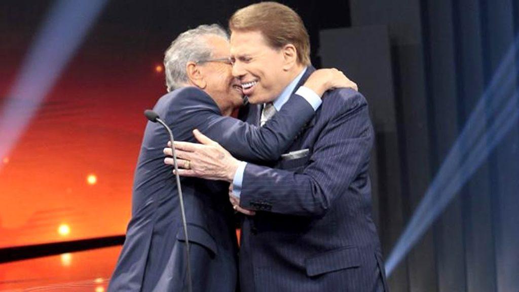 Silvio Santos e Carlos Alberto de Nóbrega (Foto reprodução)