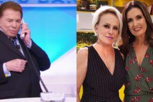 Silvio Santos, Fátima Bernardes e Ana Maria (Montagem: TV Foco)
