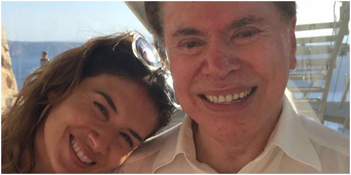 Silvio Santos ao lado de Daniela Beyruti (Foto: Reprodução)