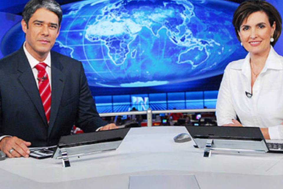 William Bonner e Fátima Bernardes no Jornal Nacional (Reprodução: Globo)