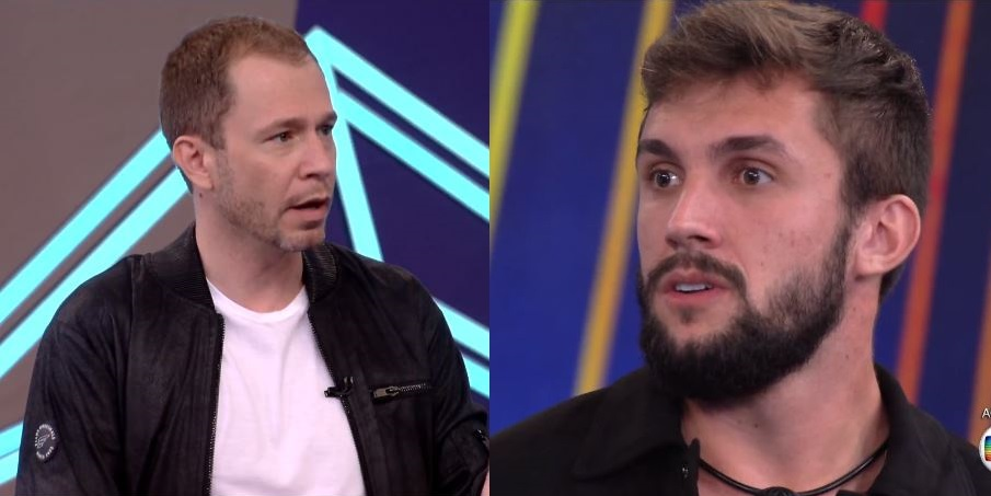 Tiago Leifert confrontou Arthur no BBB21 (Foto: Reprodução)