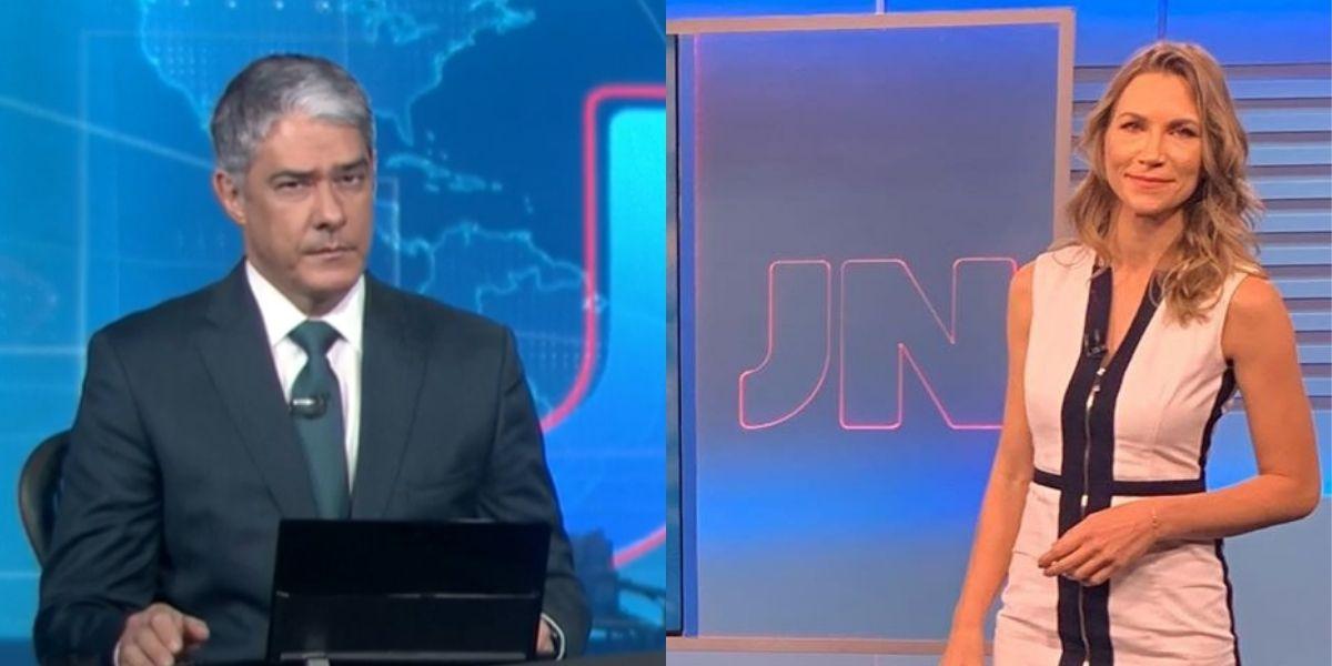 William Bonner e Anne Lottermann trabalham juntos no Jornal Nacional (Montagem: TV Foco)