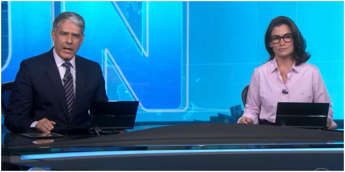 William Bonner e Renata Vasconcellos comandam o Jornal Nacional - Foto: Reprodução