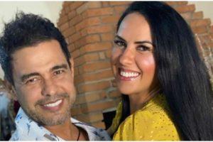 Zezé di Camargo usa mão boba com Graciele Lacerda