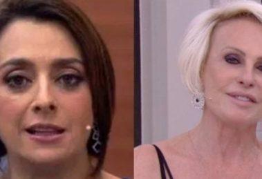 Catia Fonseca confessou ter assistido a programa da concorrência (Imagem: Montagem)
