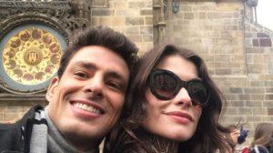 Cauã e Alinne estão fazendo a novela juntos