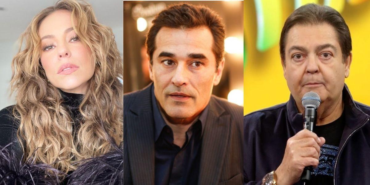 Paolla Oliveira, Luciano Szafir e Faustão (Reprodução)