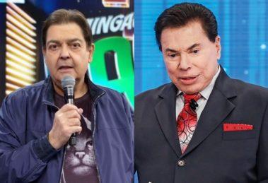 Faustão e Silvio Santos