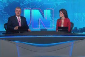 Jornal Nacional exibiu mensagem contra Bolsonaro na TV (Foto: Reprodução)
