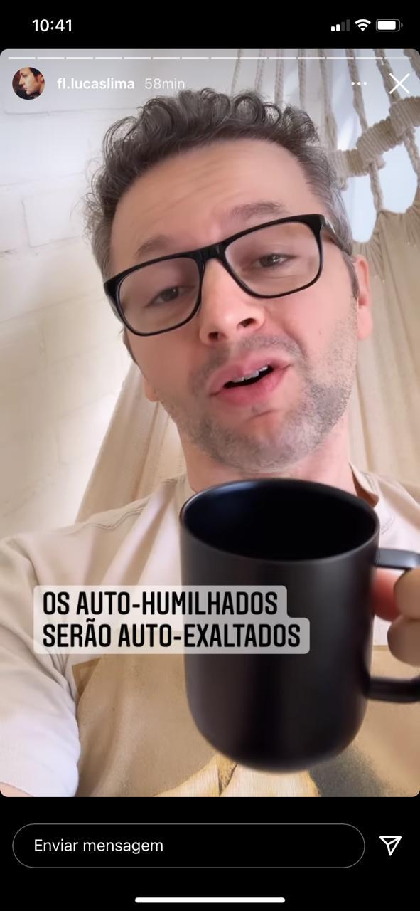 Desabafo de Lucas Lima nas redes sociais (Reprodução)