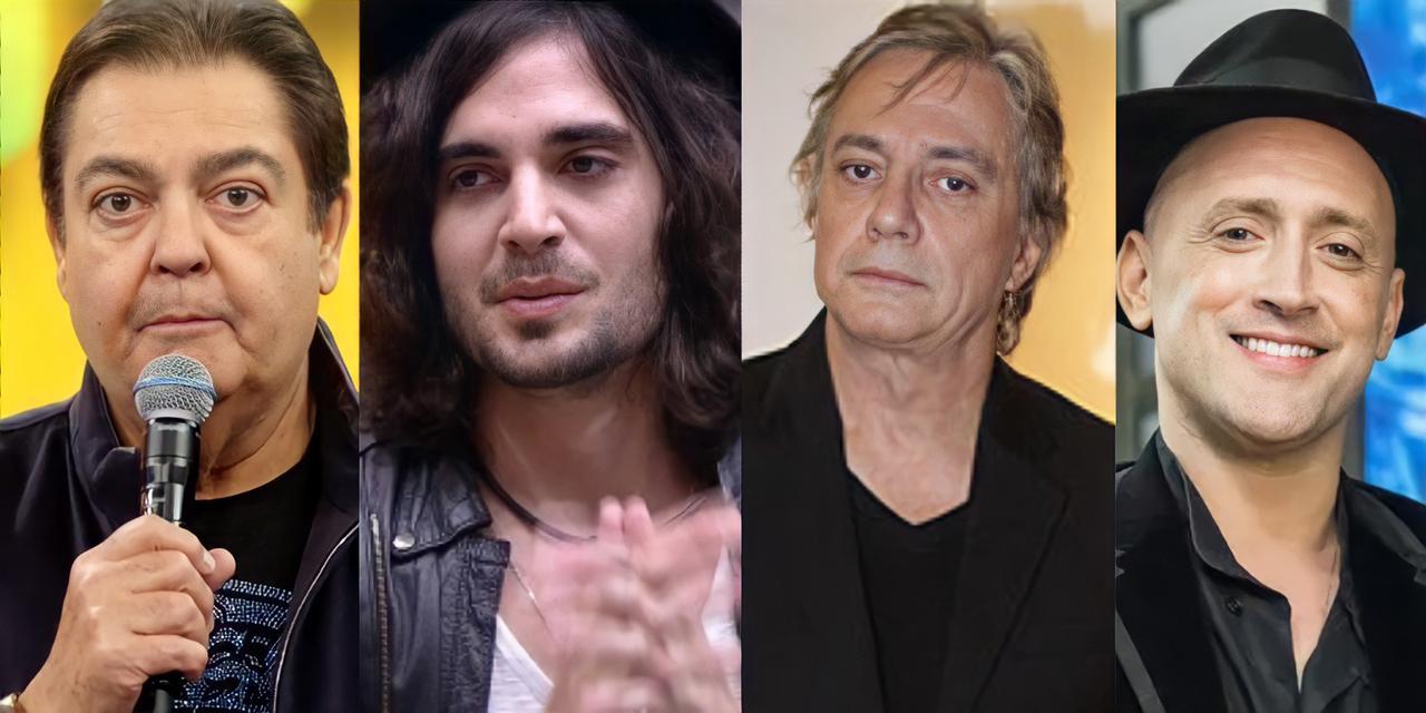 Faustão, Fiuk, Fábio Junior e Paulo Gustavo (Reprodução)