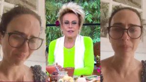 """Ana Maria Braga contou com depoimento de Tata Werneck no """"Mais Você"""" (Foto: Reprodução/TV Globo)"""