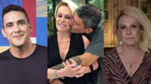 André Marques e Ana Maria Braga tiveram nomes envolvidos na morte de Tom Veiga (Foto: Reprodução/TV Globo/TV Cultura)