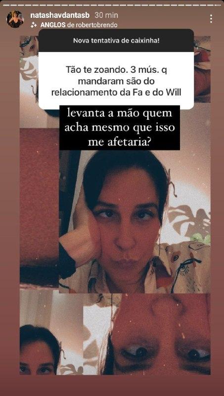 Natasha Dantas se revoltou com recado e detonou (Foto: Reprodução/ Instagram)
