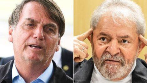 Bolsonaro esmaga Lula e lidera corrida presidencial em todos os cenários para 2022