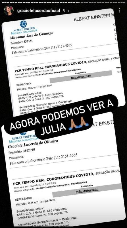 Graciele Lacerda contou que ela e Zezé Di Camargo conheceram Júlia (Foto: Reprodução/ Instagram)