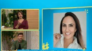 Catia Fonseca revela verdade sobre demissão de Carla Cecato (Foto: Reprodução/Band)