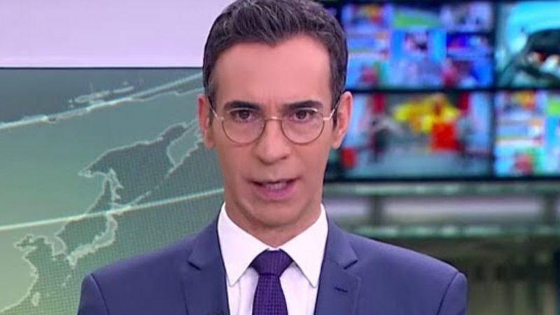 """César Tralli abre JH às pressas, anuncia morte na Globo e escândalo é confirmado: """"Deveria falar a verdade"""""""