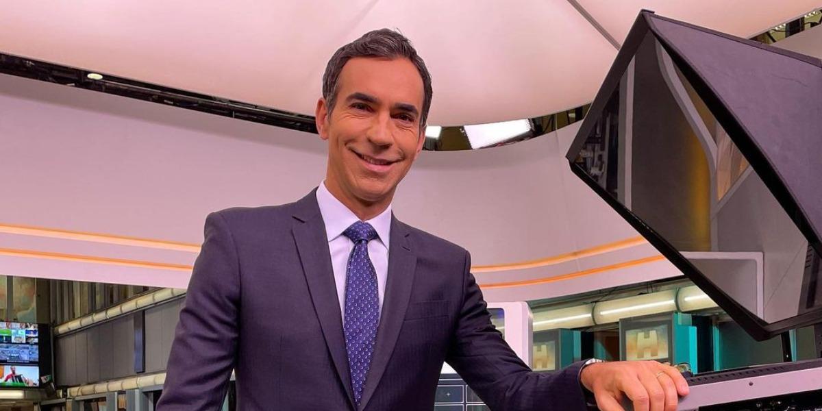 """Cesar Tralli no """"Jornal Hoje"""" (Foto: Reprodução/TV Globo)"""