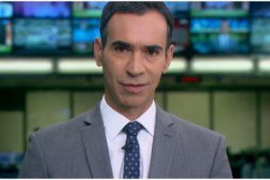 César Tralli comandou o plantão de sábado do Jornal Hoje (Foto: Reprodução)