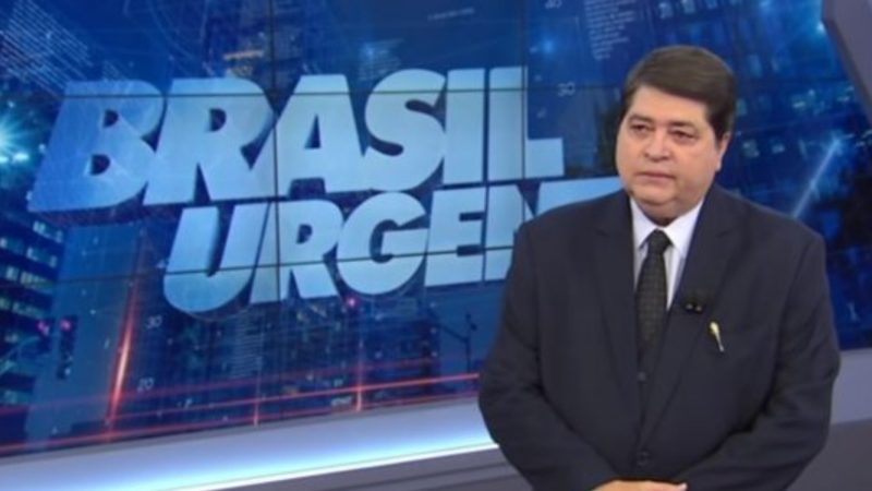 Datena massacra repórter no Brasil Urgente (Foto: Reprodução)