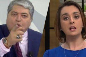 """Datena é alertado por Catia Fonseca ao vivo, não gosta do que ouve e explode com ordem na Band: """"Vai embora"""""""