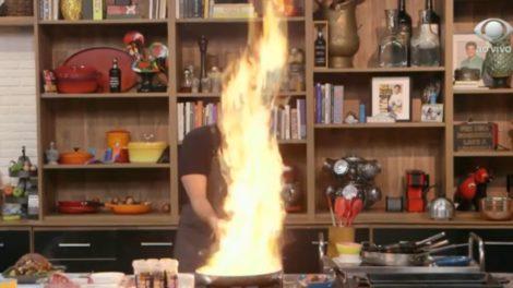 """Edu Guedes coloca fogo nos estúdios da Band, terror toma conta e até Faustão aparece ao vivo: """"Cuidado"""""""