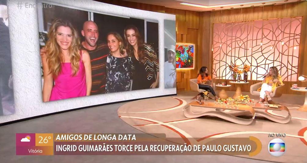 """Ingrid Guimarães participou do """"Encontro Com Fátima Bernardes"""" nesta segunda-feira (Foto: Reprodução/TV Globo)"""