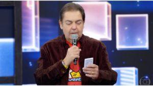 O apresentador Faustão no comando de seu programa na Globo - Foto: Reprodução