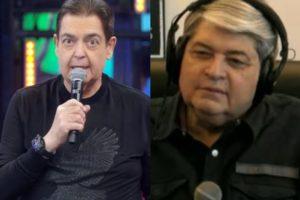 Datena revela gravação com Faustão (Foto: Reprodução/TV Globo/Band)