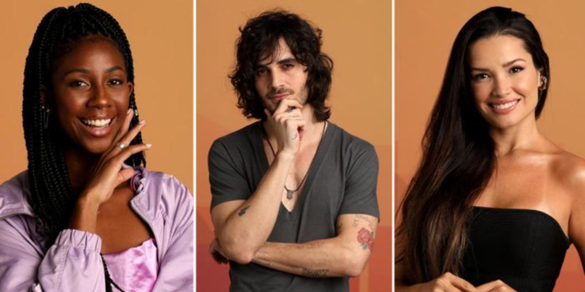 Fiuk, Juliette e Camilla de Lucas são os finalistas do BBB21 (Foto: Reprodução)