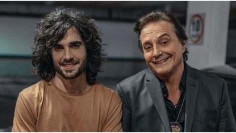 Fiuk ao lado de Fábio Jr, seu pai (Foto: Reprodução)