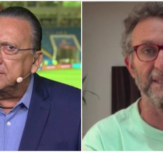 Galvão Bueno fez anúncio e Neto deixou comentário (Foto: Reprodução)