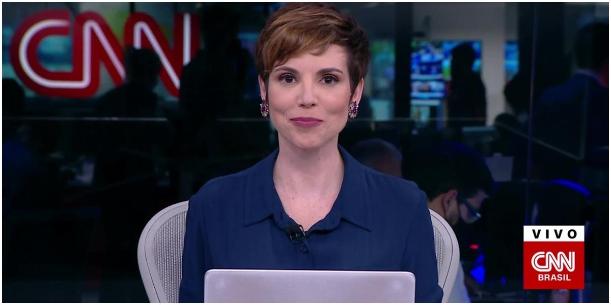 Teve espaço para climão com Gloria Vanique na CNN Brasil - Foto: Reprodução