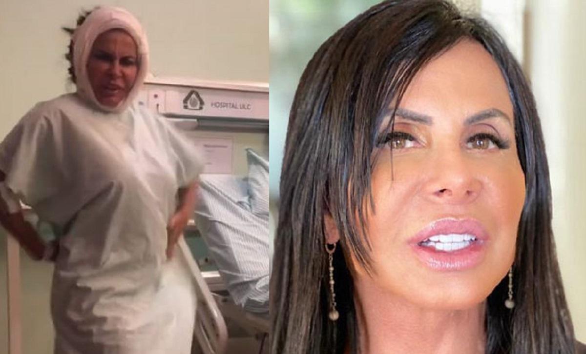 A cantora e Rainha dos Memes, e Rainha do Bumbum, Gretchen, foi parar no hospital após mais uma operação em plena pandemia do novo coronavírus (Foto: Reprodução)